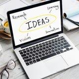想法创新学会概念的研究视觉 免版税图库摄影
