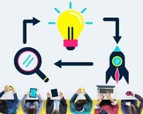 想法创造性创造性的发射未来派概念 免版税库存照片