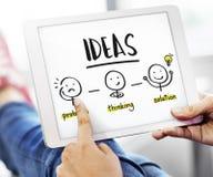 想法创造性思为人图表概念 免版税图库摄影