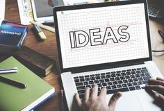 想法创造性的设计草稿图表概念 免版税库存图片
