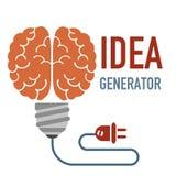 想法发电器概念 向量例证