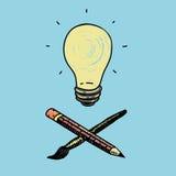 想法和创造性的标志 库存照片