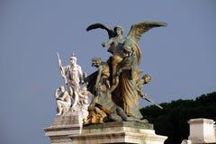 想法和力量,阿尔塔雷della Patria,罗马的雕象 免版税库存照片