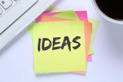 想法想法成功成长创造性创造性的书桌 库存图片