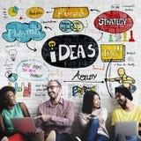 想法想法视觉设计规划客观使命概念 免版税图库摄影