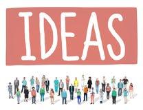 想法想法设计创造性视觉启发概念 库存图片