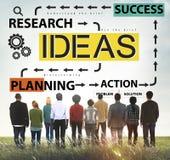 想法成功计划行动管理概念 免版税库存照片