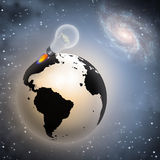 想法新的世界 免版税图库摄影