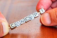 想法概念企业在书桌安置的商情报告书在prec 图库摄影