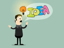 想法概念的创造性的例证 免版税库存照片