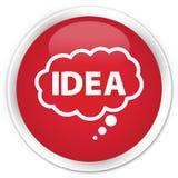 想法泡影象优质红色圆的按钮 免版税库存照片