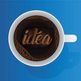 想法用无奶咖啡 免版税图库摄影