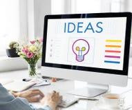 想法电灯泡创造性想象力启发概念 库存图片