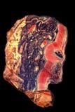 顶头人档案从碧玉的 图库摄影