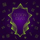 想法的例证在电灯泡平的样式的 库存例证
