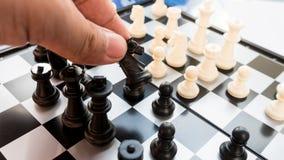 想法的比赛国际棋体育在地板上的 免版税库存图片