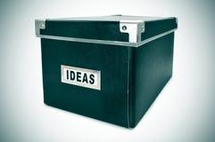 想法箱子 图库摄影