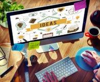 想法行动设计规划提案战略战术概念 免版税库存照片