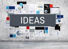 想法设计提案战略建议视觉概念 免版税库存照片