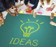 想法设计目标计划战略战术概念 免版税库存照片
