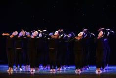 想法这偏僻的舞蹈家现代舞蹈团结  免版税库存图片