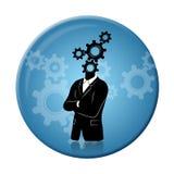 想法,进展和想法徽章 免版税库存照片