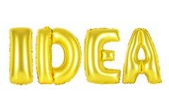 想法,金子颜色 免版税库存照片
