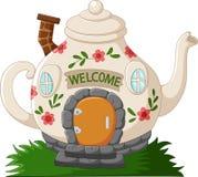 幻想茶壶安置动画片 库存例证