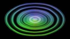 幻想荧光转动和水表面上的颜色改变的lihgt 录影有用射出的在夜总会或在迪斯科 向量例证