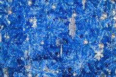 幻想蓝色闪烁圣诞节背景 库存照片