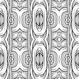 幻想装饰装饰无缝的样式 免版税图库摄影