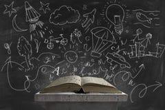 想象力和书 免版税库存照片