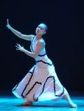 想象力和现实差事到迷宫现代舞蹈舞蹈动作设计者玛莎・葛兰姆里 免版税库存照片