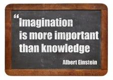想象力和知识 免版税库存照片