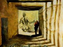 想象力隧道 库存图片