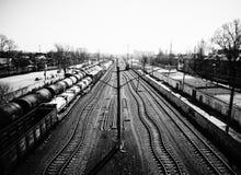 幻想铁路 库存图片