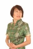 惶惑亚裔妇女 免版税库存图片
