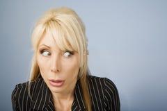 惶惑妇女 免版税库存照片