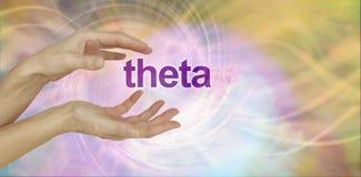 愈疗者与希腊字母的第八字能量一起使用 免版税库存照片
