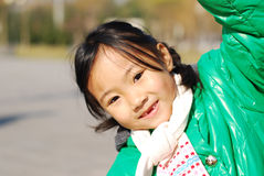 愉快中国的女孩一点 免版税图库摄影