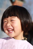 愉快中国的女孩 免版税库存照片