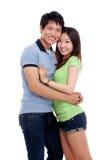 愉快亚洲的夫妇 免版税图库摄影
