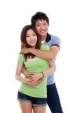 愉快亚洲的夫妇 免版税库存图片
