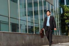 愉快亚洲的生意人 免版税库存照片