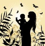 愉快儿童的系列她的妇女 库存例证