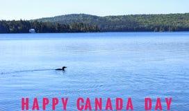 愉快加拿大的日 库存照片