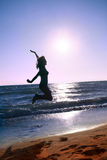 愉快在海滩 免版税图库摄影