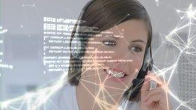 愉快地添加对客户的电话中心代理 向量例证