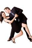 愉快夫妇的跳舞 免版税库存照片