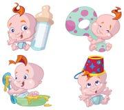 愉快婴孩的动画片 向量例证